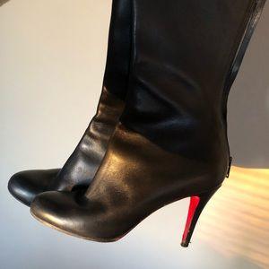 CHRISTIAN LOUBOUTIN Black Heel Boots